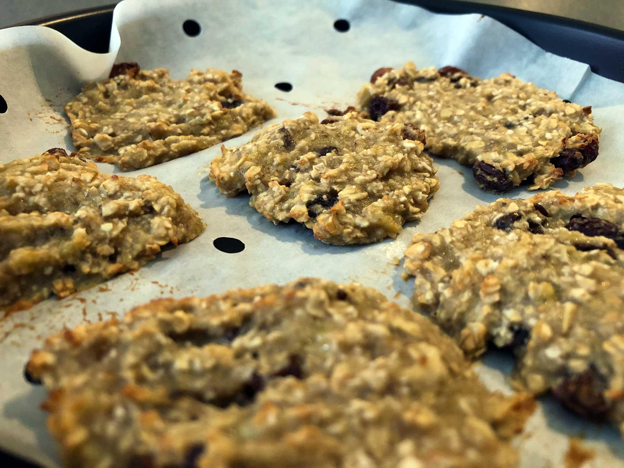 Leckeres Rezept für Haferflocken-Bananen-Cookies