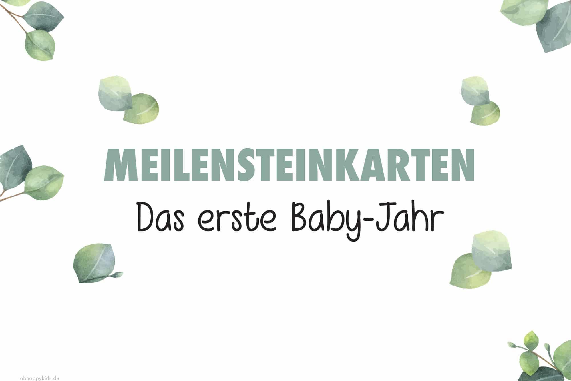 Meilensteinkarten - Das erste Baby-Jahr